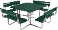 4 Foot Picnic Table - Verde Green