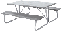 6 and 8 Foot Picnic Tables - Gray
