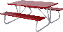 6 and 8 Foot Picnic Tables - Red